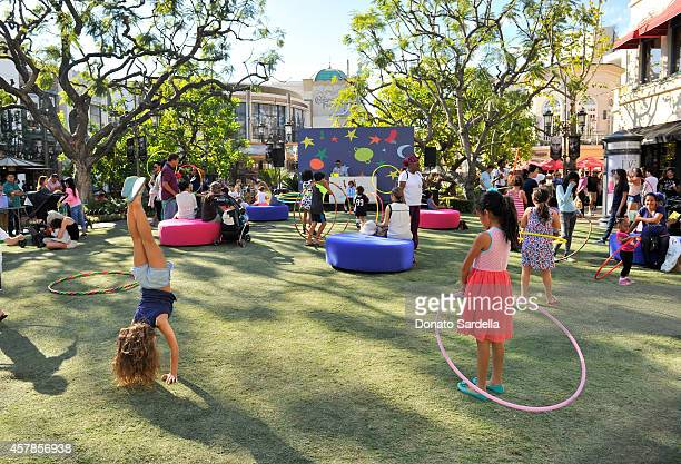 Attendees participate in the activities during the GapKids x kate spade new york Jack Spade Launch Event at The Grove on October 25 2014 in Los...