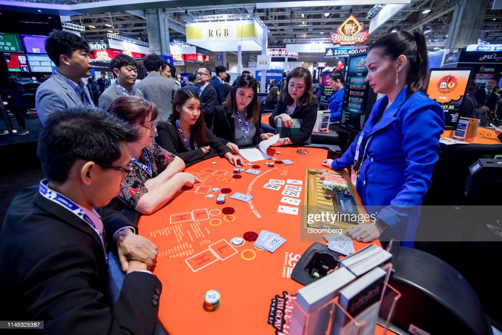 Attendees Play Poker During The Global Gaming Expo Asia In Macau News Photo Getty Images
