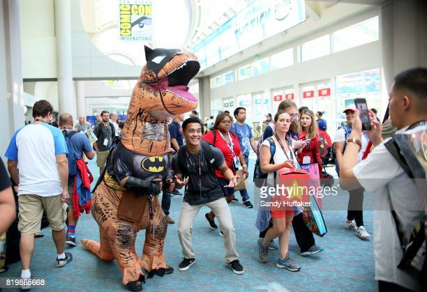 Attendees roam the halls at the San Diego Convention Center during Comic Con International on July 20 2017 in San Diego California Comic Con...