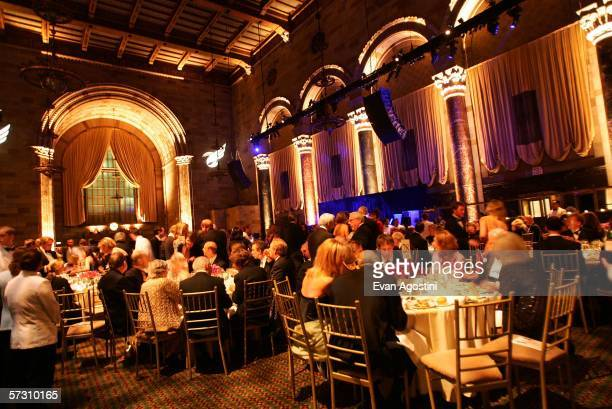 Attendees sit in the ballroom during the American Theatre Wing Annual Spring Gala at Cipriani 42nd Street on April 10, 2006 in New York City.