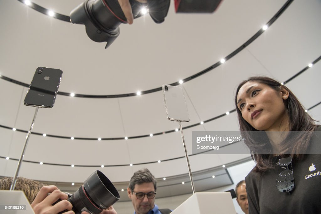 Apple Inc. Debuts New iPhones At Product Launch Event : News Photo