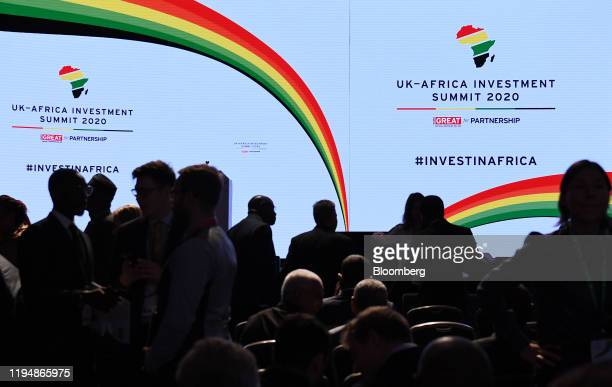 Attendees take their seats in the auditorium at the UK Africa Investment Summit at the Intercontinental Hotel in London UK on Monday Jan 20 2020...