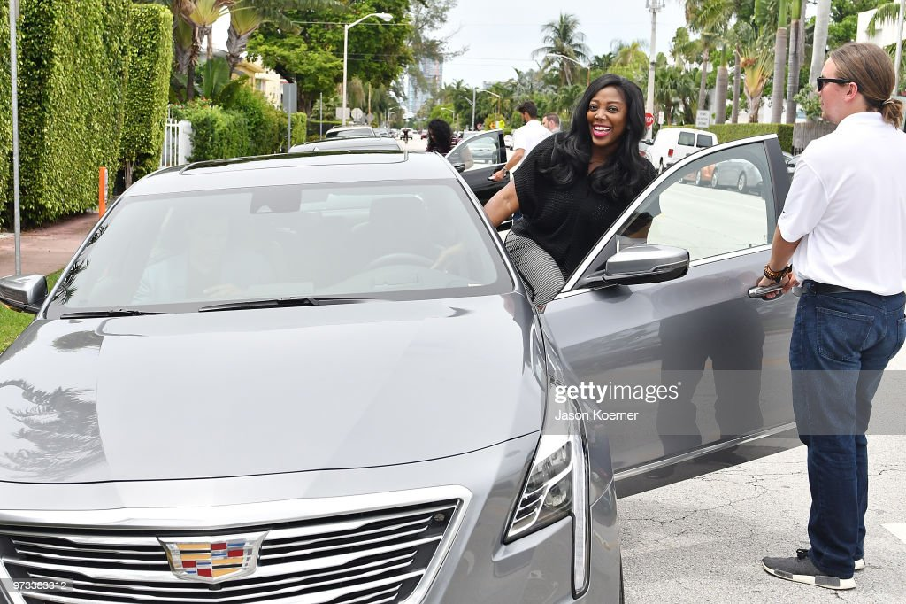 Attendees test drive Cadillac's Super Cruise, the world's first true hands-free driver assistance feature for the highway on June 13, 2018 in Miami Beach, Florida.