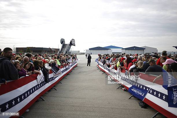 Attendees wait for the start of a campaign event with Donald Trump president and chief executive of Trump Organization Inc and 2016 Republican...