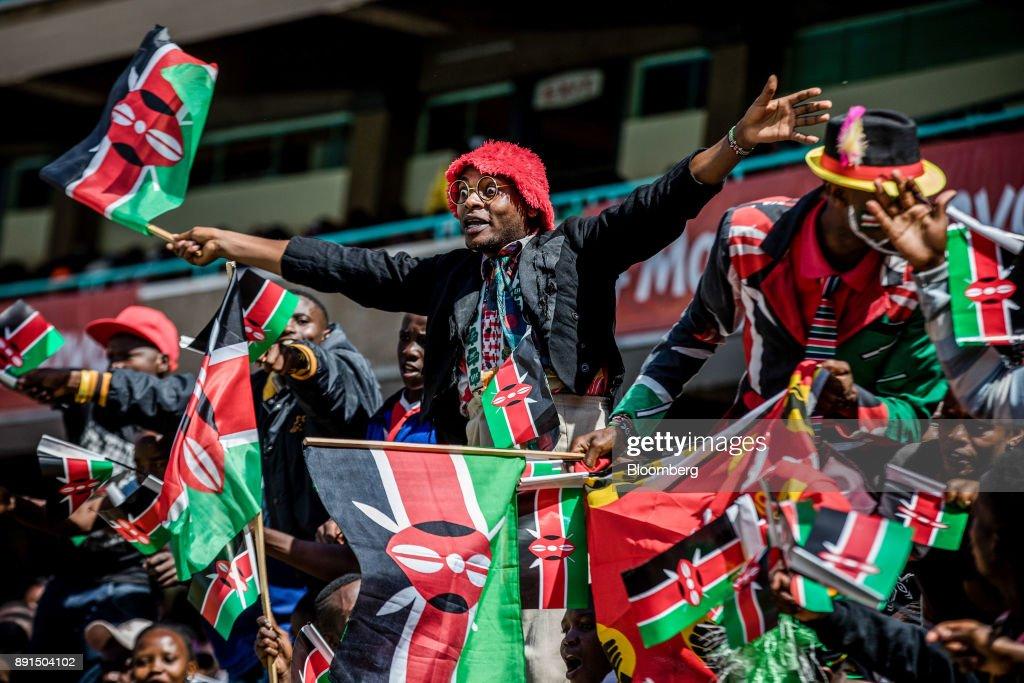 Kenyan President Uhuru Kenyatta Attends Jamhuri DayCelebrations : News Photo