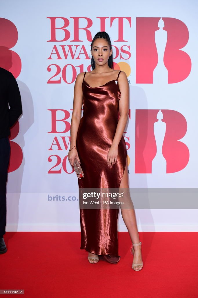 attending the Brit Awards at the O2 Arena, London.