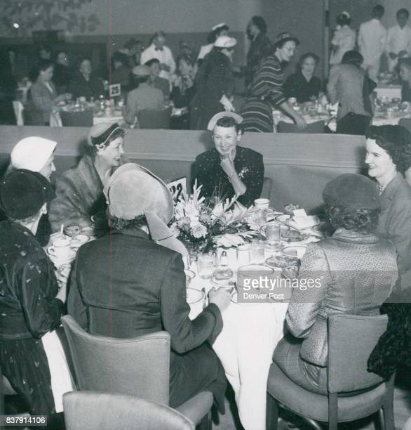 SEP 28 1952 OFFICIAL PARTY—Attending the Denver Athletic club's fashion show luncheon on Tuesday as guests of club president Chauncey Ritter's wife...