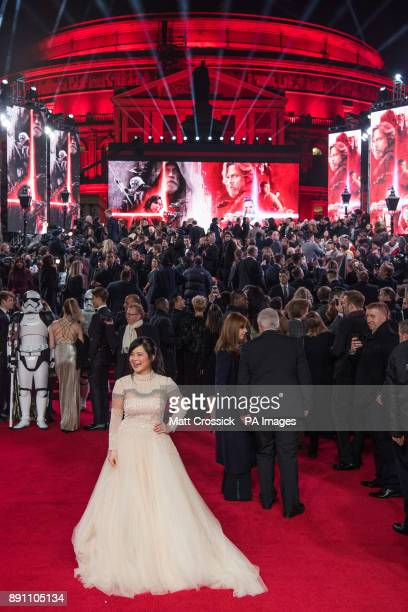 attending the european premiere of Star Wars The Last Jedi held at The Royal Albert Hall London Picture date Tuesday December 12 2017 See PA story...