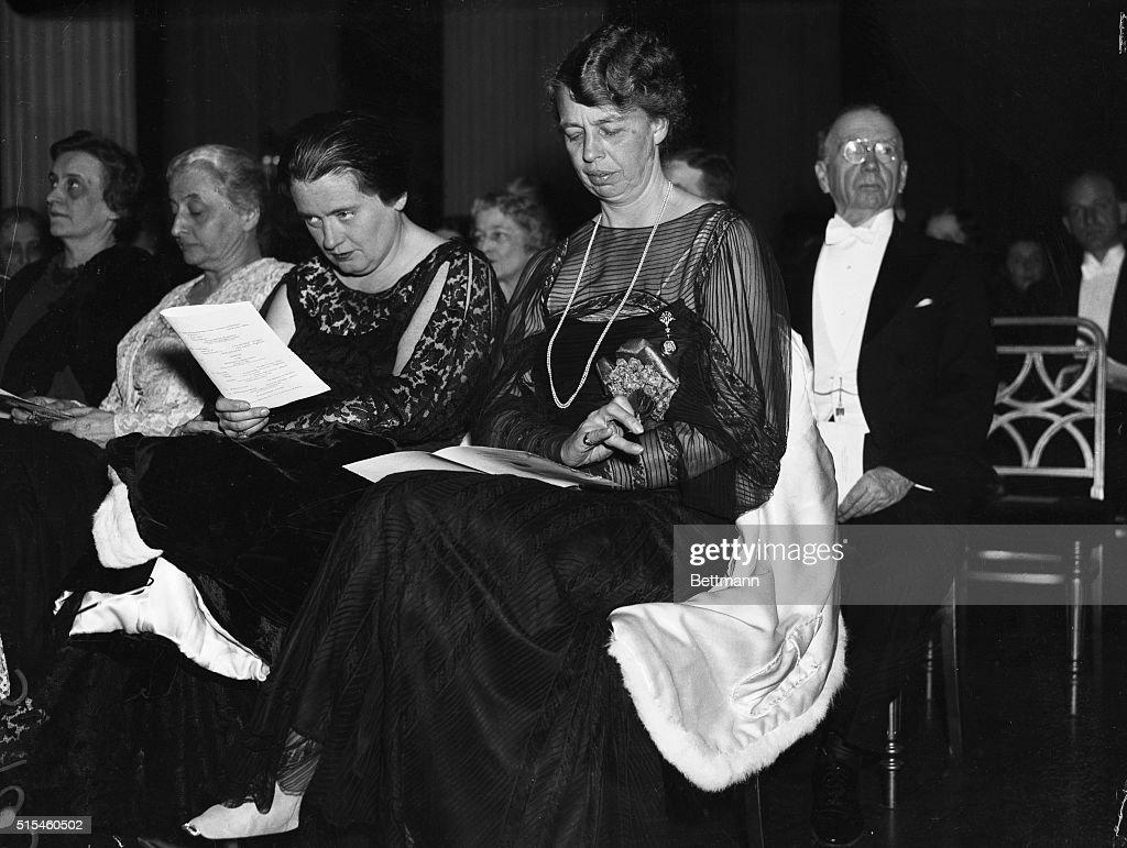 Lorena Hickok and Eleanor Roosevelt Listening to Concert : News Photo
