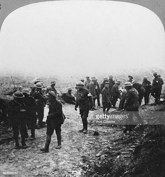 Attending to the wounded on the Menin Road Ypres Flanders Belgium World War I c1914c1918 During stiff fighting around Zonnebeke The area around Ypres...