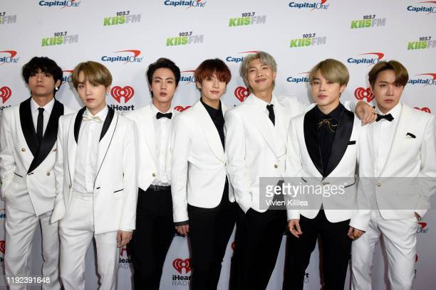 BTS attends 1027 KIIS FM's Jingle Ball 2019 Presented by Capital One at the Forum on December 6 2019 in Los Angeles California