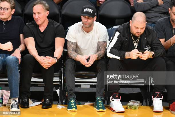 attends a basketball game between the Los Angeles Lakers and the Toronto Raptors at Staples Center on November 04 2018 in Los Angeles California