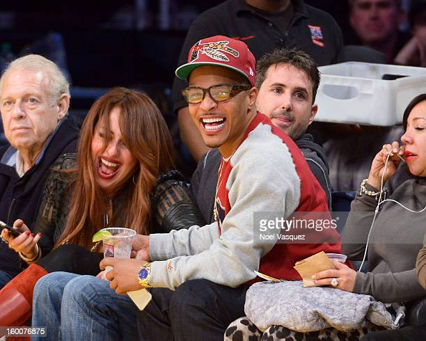 I attends a basketball game between the Utah Jazz and the Los Angeles Lakers at Staples Center on January 25 2013 in Los Angeles California