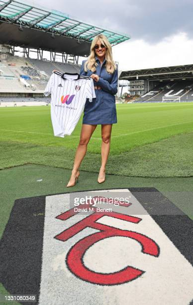 Attends a brunch to celebrate the partnership between World Mobile and Fulham FC at Craven Cottage on July 28, 2021 in London, England.