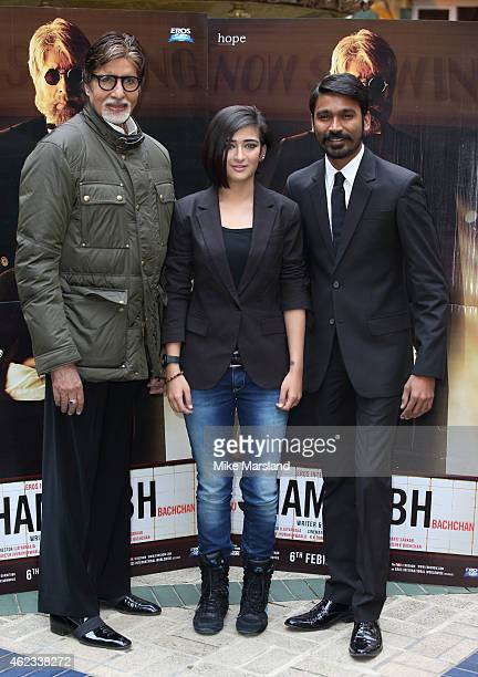 Y 27 attends a photocall for 'Shamitabh' at St James Court Hotel on January 27 2015 in London England