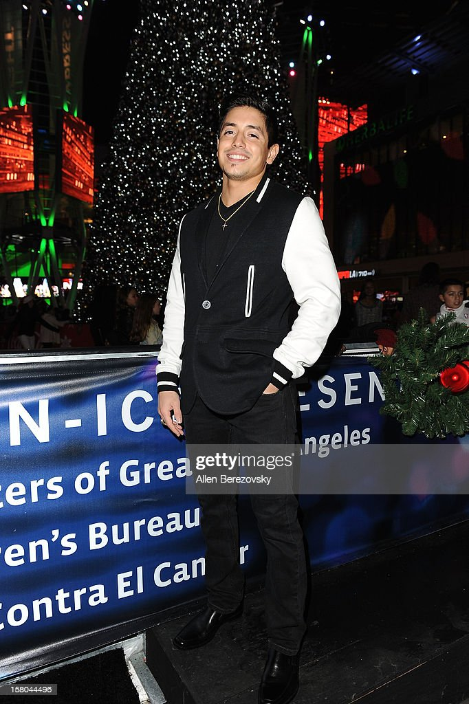 attends a special on-ice presentation to PADRES Contra El Cancer by AEG at the LA Kings holiday ice at Nokia Plaza L.A. LIVE on December 9, 2012 in Los Angeles, California.