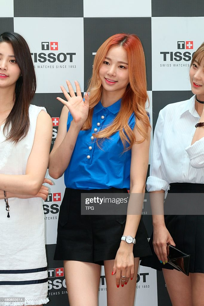 EXID attends a watch promotion at IFC MALL on 15th July, 2015 in Seoul, South Korea.