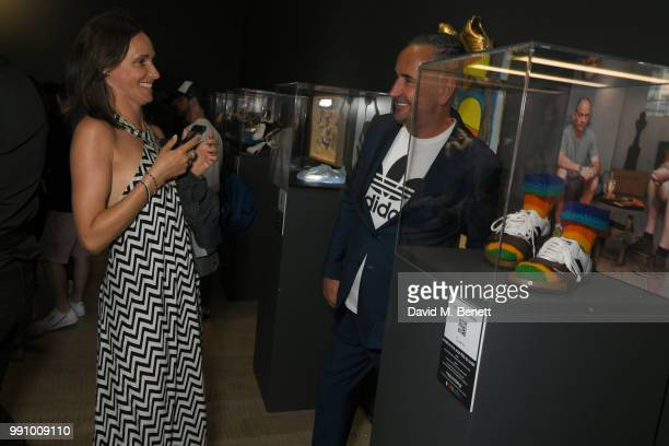attends adidas 'Prouder' A Fat Tony Project in aid of the Albert Kennedy Trust supporting LGBT youth at Heni Gallery Soho on July 3 2018 in London...