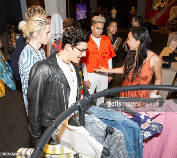PRETTYMUCH attends Backstage Creations Celebrity Retreat At Teen Choice 2018 Day 2 at The Forum on August 12 2018 in Inglewood California