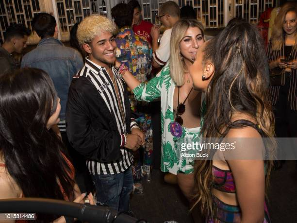 CNCO attends Backstage Creations Celebrity Retreat At Teen Choice 2018 Day 2 at The Forum on August 12 2018 in Inglewood California