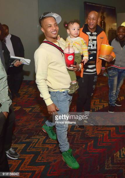 I attends 'Black Panther' Advance Screening at Regal Hollywood on February 13 2018 in Chamblee Georgia
