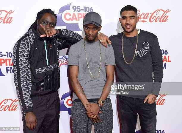 WSTRN attends day one of the Capital FM Jingle Bell Ball at The O2 Arena on December 5 2015 in London England