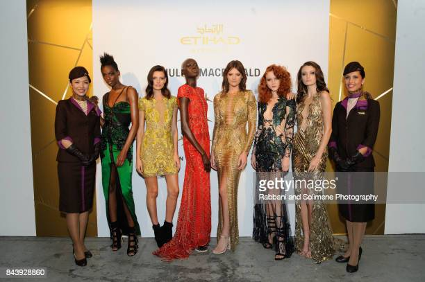 attends Etihad Airways Celebrating Runway To Runway With Special Guest Julien MacDonald Obe at Skylight Clarkson Sq on September 7 2017 in New York...