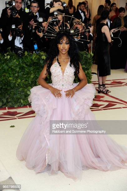 SZA attends Heavenly Bodies Fashion The Catholic Imagination Costume Institute Gala a the Metropolitan Museum of Art in New York City