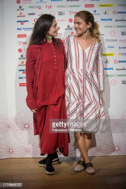 """Attends """"Il Tempo Delle Donne"""" Festival in Milan at Triennale Design Museum on September 15, 2019 in Milan, Italy."""