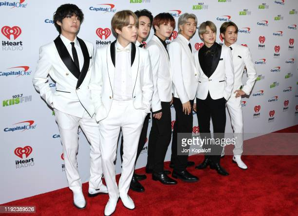 BTS attends KIIS FM's Jingle Ball 2019 presented by Capital One at The Forum on December 06 2019 in Inglewood California
