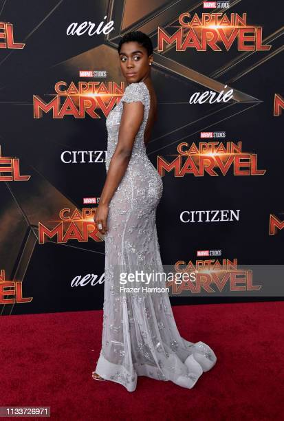 attends Marvel Studios Captain Marvel Premiere on March 04 2019 in Hollywood California