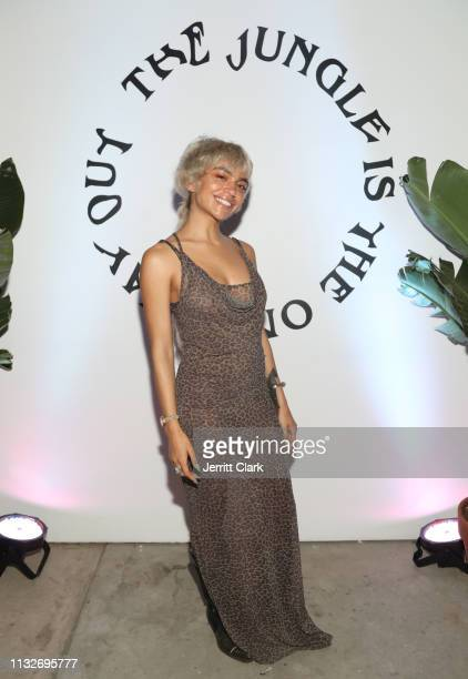 QUIÑ attends Mereba's Album Listening Party And Performance Celebrating The Jungle Is The Only Way Out at Urban Outfitters Space 15 Twenty on...