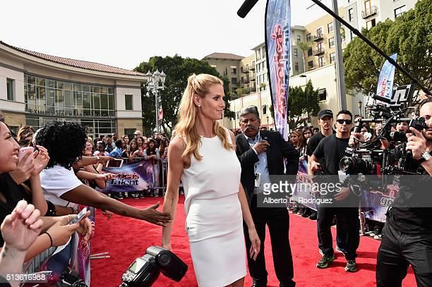 attends NBC's America's Got Talent Season 11 Kickoff at Pasadena Civic Auditorium on March 3 2016 in Pasadena California