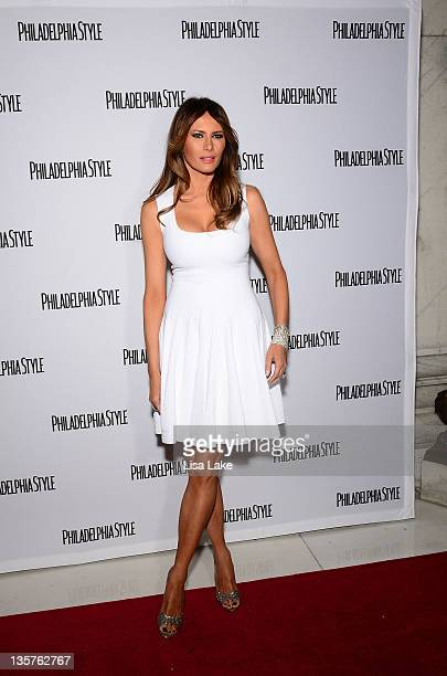 <<attends>> Philadelphia Style Magazine cover event hosted by Melania Trump at Ritz Carlton Hotel on December 13 2011 in Philadelphia Pennsylvania