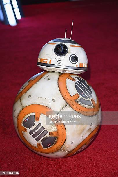 BB8 attends Premiere of Walt Disney Pictures and Lucasfilm's Star Wars The Force Awakens on December 14 2015 in Hollywood California
