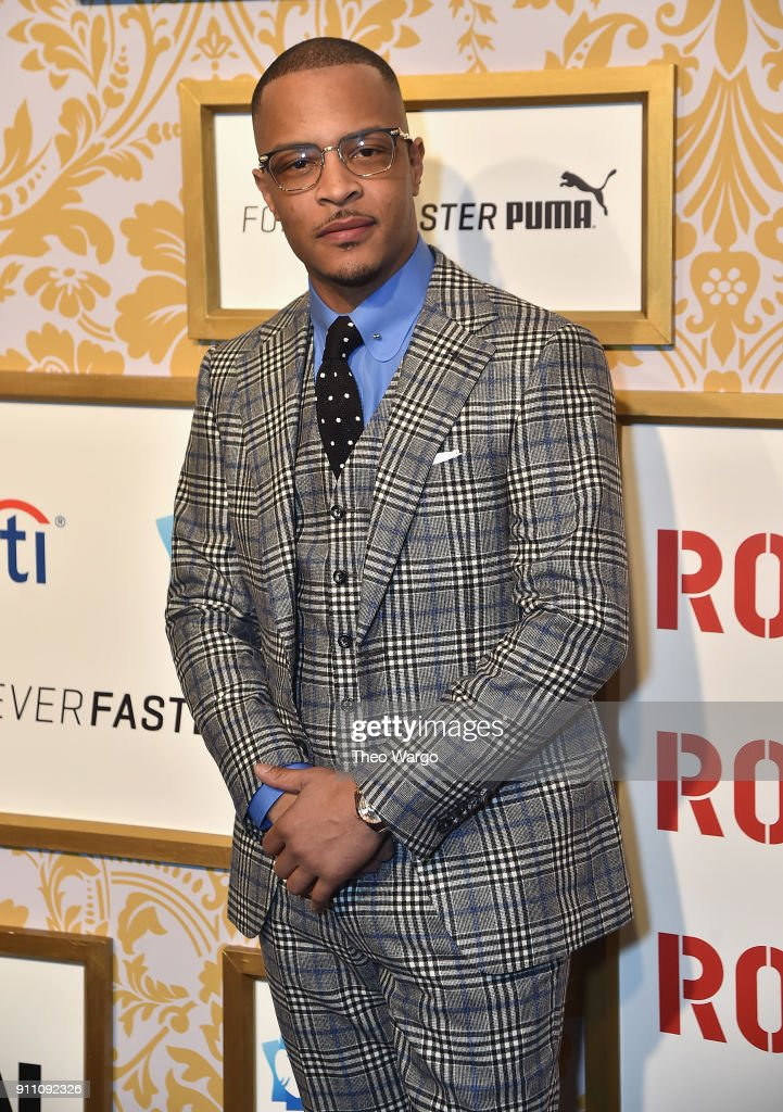 T.I. attends Roc Nation THE BRUNCH at One World Observatory on January 27, 2018 in New York City.