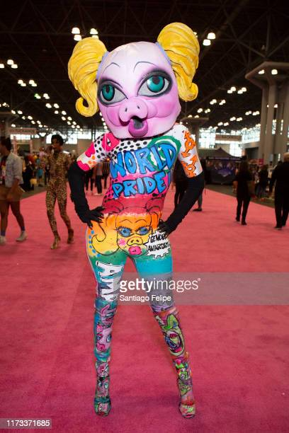 QWERRRK attends RuPaul's DragCon 2019 at The Jacob K Javits Convention Center on September 08 2019 in New York City