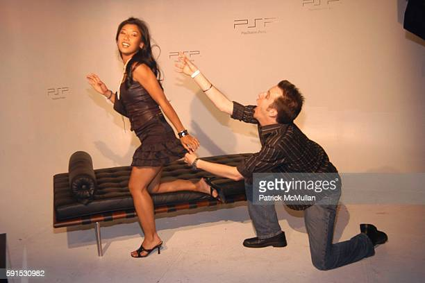 attends Sony Play Station Portable Factory at Hollywood Center Studios on May 18 2005 in LA CA