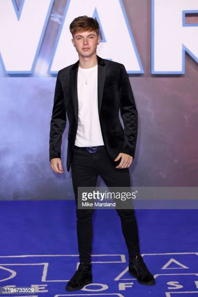 HRVY attends Star Wars The Rise of Skywalker European Premiere at Cineworld Leicester Square on December 18 2019 in London England