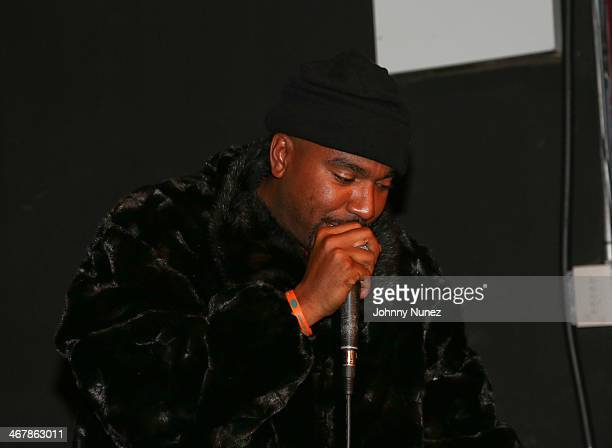 E attends Take It Personal Featuring NORE A Big Pun Tribute at USB Headquarters on February 7 2014 in New York City