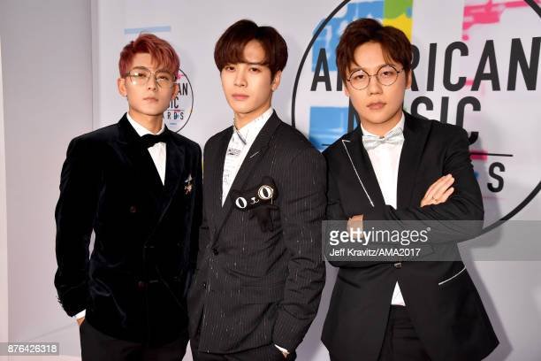 GOT 7 attends the 2017 American Music Awards at Microsoft Theater on November 19 2017 in Los Angeles California