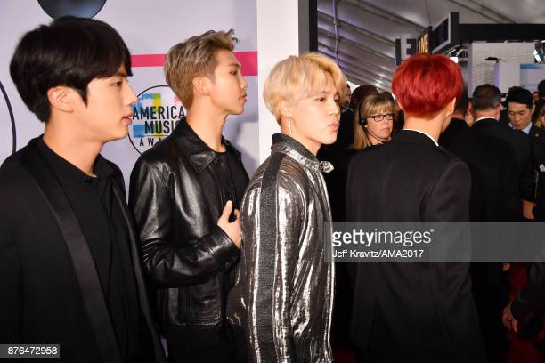 BTS attends the 2017 American Music Awards at Microsoft Theater on November 19 2017 in Los Angeles California