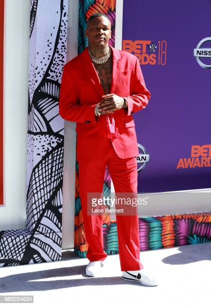 YG attends the 2018 BET Awards at Microsoft Theater on June 24 2018 in Los Angeles California