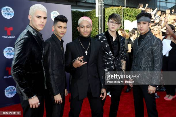 CNCO attends the 2018 Latin American Music Awards at Dolby Theatre on October 25 2018 in Hollywood California