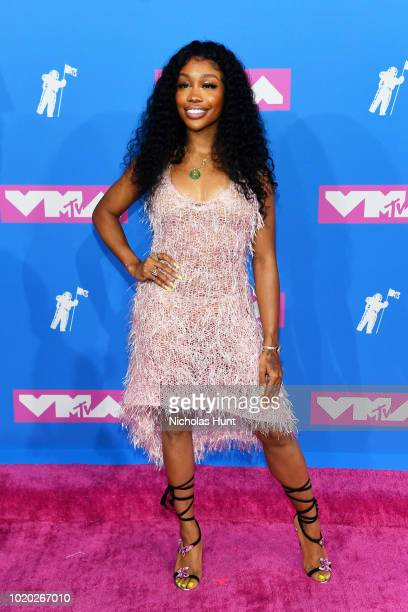 SZA attends the 2018 MTV Video Music Awards at Radio City Music Hall on August 20 2018 in New York City
