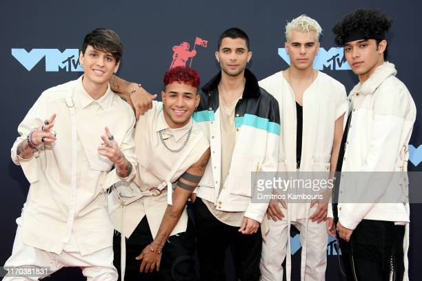 CNCO attends the 2019 MTV Video Music Awards at Prudential Center on August 26 2019 in Newark New Jersey