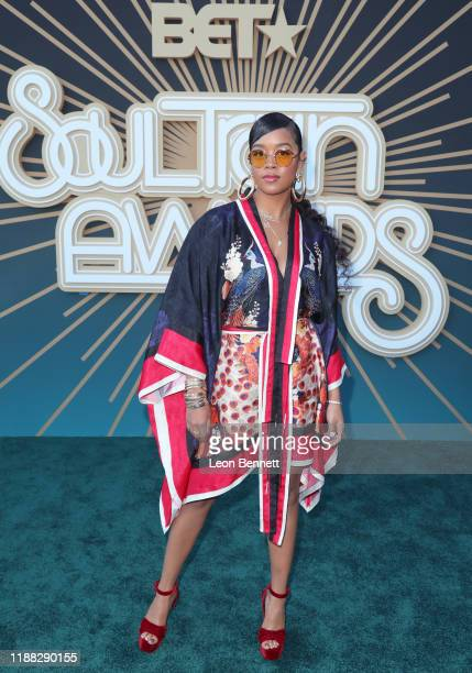 Attends the 2019 Soul Train Awards presented by BET at the Orleans Arena on November 17, 2019 in Las Vegas, Nevada.