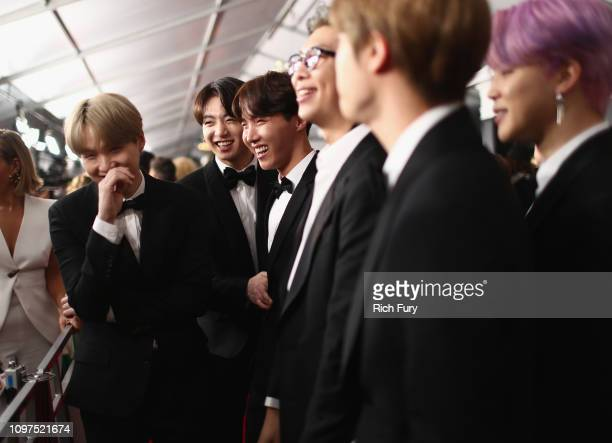 BTS attends the 61st Annual GRAMMY Awards at Staples Center on February 10 2019 in Los Angeles California