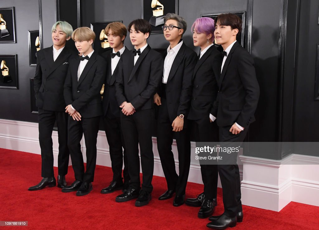 BTS attends the 61st Annual GRAMMY Awards at Staples ...