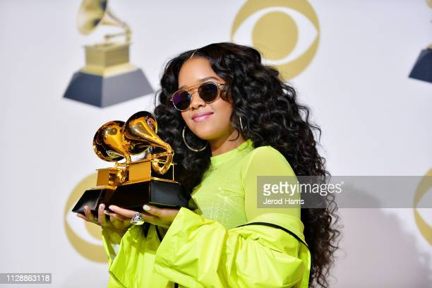 R attends the 61st Annual GRAMMY Awards Press Room at Staples Center on February 10 2019 in Los Angeles California
